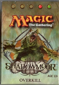 Magic the Gathering Shadowmoor Precon Overkill Theme Deck