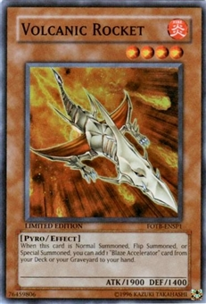 Yu-Gi-Oh Force of the Breaker Single Volcanic Rocket Super Rare