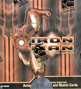 Iron Man Trading Cards Box (Rittenhouse 2008)