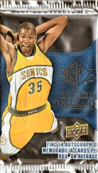 2007/08 Upper Deck SP Rookie Threads Basketball Hobby Pack