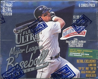 1997 Fleer Ultra Series 2 Baseball Retail Box
