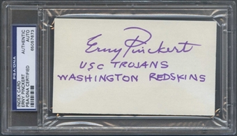 Erny Pinckert Autograph (Index Card) PSA/DNA Certified *7673