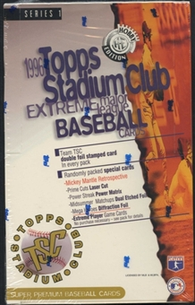 1996 Topps Stadium Club Series 1 Baseball Hobby Box