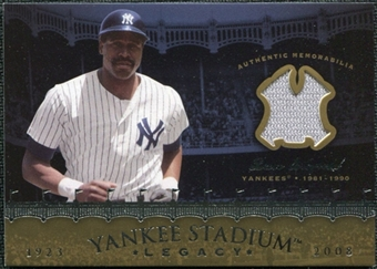 2008 Upper Deck Yankee Stadium Legacy Collection Memorabilia #DW Dave Winfield