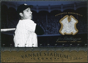 2008 Upper Deck Yankee Stadium Legacy Collection Memorabilia #JD Joe DiMaggio