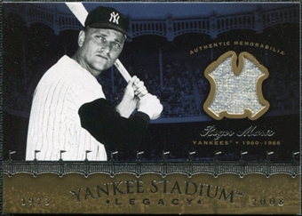 2008 Upper Deck Yankee Stadium Legacy Collection Memorabilia #RM Roger Maris