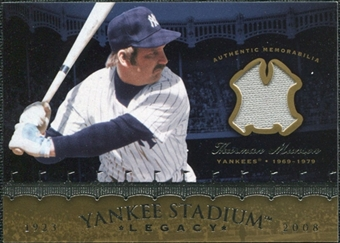 2008 Upper Deck Yankee Stadium Legacy Collection Memorabilia #TM Thurman Munson