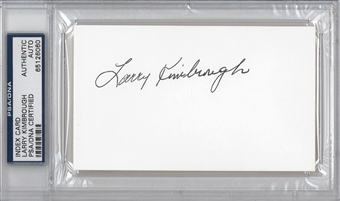 Larry Kimbrough Autographed Index Card (PSA) *6060