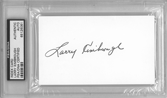 Larry Kimbrough Autographed Index Card (PSA) *6061
