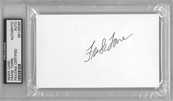 Frank Torre Autographed Index Card (PSA) *6066