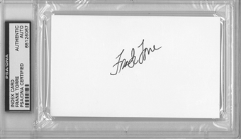 Frank Torre Autographed Index Card (PSA) *6067