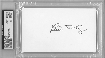 Bill Dickey Autographed Index Card (PSA) *6081
