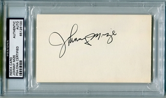 Johnny Mize Autographed Index Card (PSA) *6100