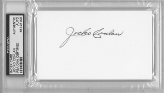 Jocko Conlan Autographed Index Card (PSA) *6108