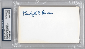 Burleigh Grimes Autographed Index Card (PSA) *6118