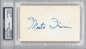 Monte Irvin Autographed Index Card (PSA) *6127