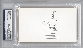 Monte Irvin Autographed Index Card (PSA) *6129