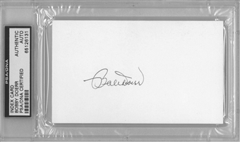 Bobby Doerr Autographed Index Card (PSA) *6131
