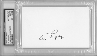 Al Lopez Autographed Index Card (PSA) *6132