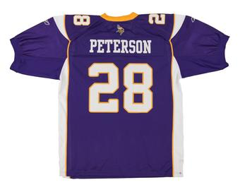 Adrian Peterson Minnesota Vikings Football Reebok Authentic Jersey (Size X-Large)