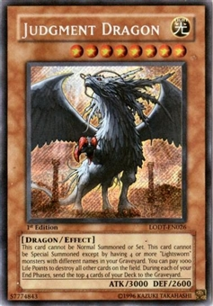Yu-Gi-Oh Light of Destruction 1st Edition Single Judgment Dragon Secret Rare LODT