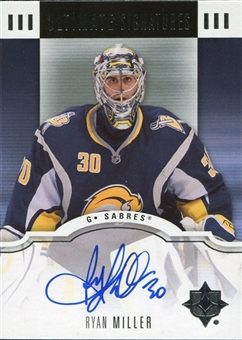 2007/08 Upper Deck Ultimate Collection Signatures #USRM Ryan Miller Autograph