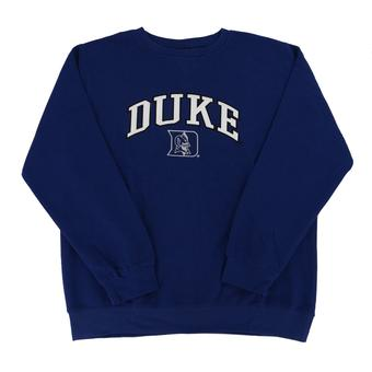 Duke Blue Devils Genuine Stuff Blue Crew Neck Fleece Sweatshirt (Adult XL)