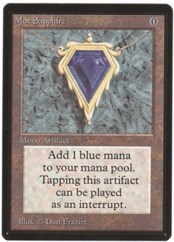 Magic the Gathering Beta Single Mox Sapphire UNPLAYED (NM/MT)