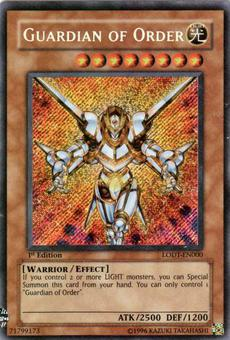 Yu-Gi-Oh Light of Destruction Single Guardian of Order Secret Rare