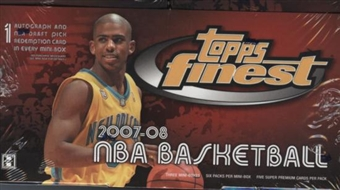 2007/08 Topps Finest Basketball Hobby Box
