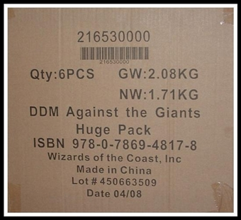 WOTC Dungeons & Dragons Miniatures Against the Giants Booster Case (6 ct.) 21653