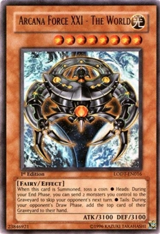 Yu-Gi-Oh Light of Destruction Single Arcana Force XXI - The World Ultra Rare
