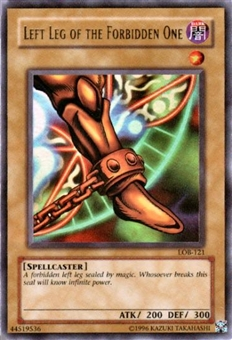 Yu-Gi-Oh BEWD Single Left Leg Of The Forbidden One Ultra Rare (LOB-121)