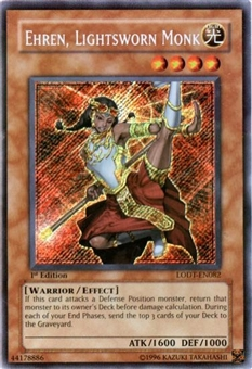 Yu-Gi-Oh Light of Destruction Single Ehren, Lightsworn Monk Secret Rare LODT