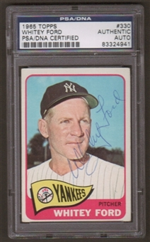 1965 Topps Whitey Ford #330 Autographed Card PSA Slabbed (4941)