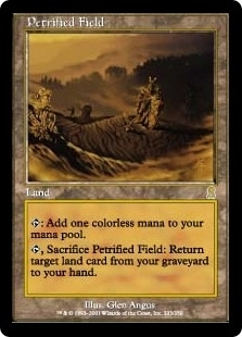 Magic the Gathering Odyssey Single Petrified Field Foil