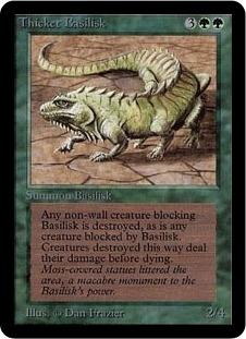 Magic the Gathering Alpha Single Thicket Basilisk LIGHT PLAY (NM)