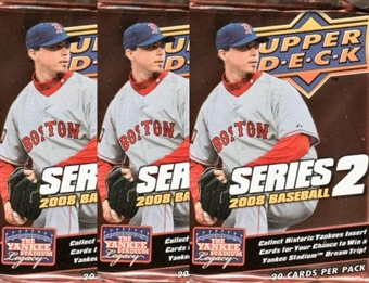 2008 Upper Deck Series 2 Baseball Hobby Pack