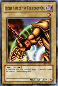 Yu-Gi-Oh BEWD Single Right Arm Of The Forbidden One Ultra Rare (LOB-122)