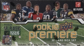2008 Upper Deck Rookie Premiere Football Hobby Set (Box)