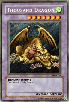 Yu-Gi-Oh Metal Raiders Single Thousand Dragon Secret Rare (MRD-143)