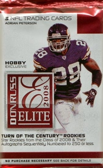 2008 Donruss Elite Football Hobby Pack