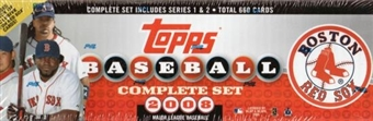 2008 Topps Factory Set Baseball (Box) (Boston Red Sox)