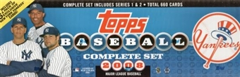 2008 Topps Factory Set Baseball (Box) (New York Yankees)