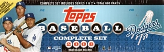 2008 Topps Factory Set Baseball (Box) (Los Angeles Dodgers)