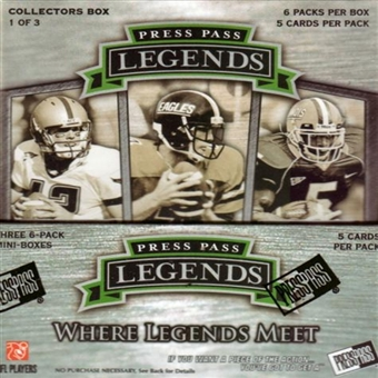 2008 Press Pass Legends Football Hobby Box