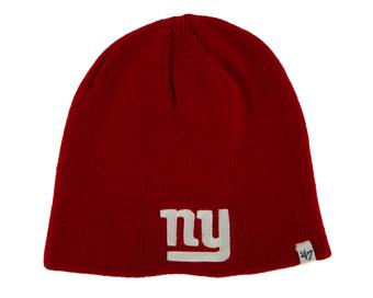 New York Giants '47 Brand Red Cuffless Knit Beanie Winter Hat (Adult One Size)