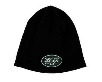 New York Jets '47 Brand Black Cuffless Knit Beanie Winter Hat (Adult One Size)