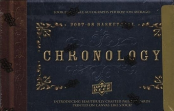 2007/08 Upper Deck Chronology Basketball Hobby Box