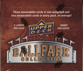 2008 Upper Deck Ballpark Collection Baseball Hobby Box